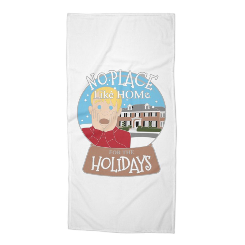 No Place Like Home For The Holidays Accessories Beach Towel by moonjoggers's Artist Shop
