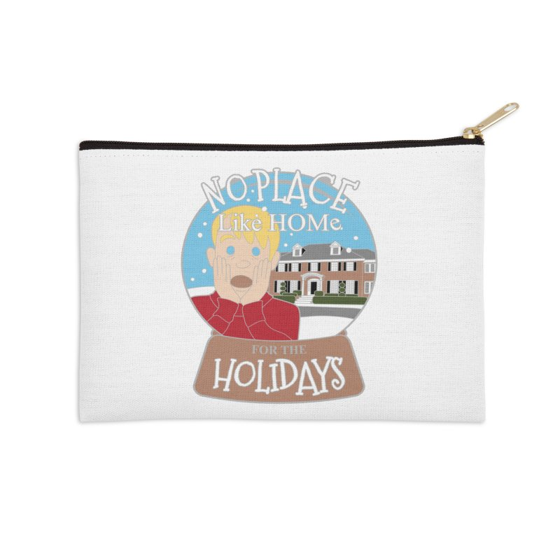 No Place Like Home For The Holidays Accessories Zip Pouch by moonjoggers's Artist Shop