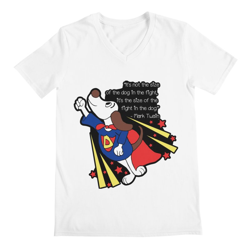 Underdog Day Men's V-Neck by Moon Joggers's Artist Shop