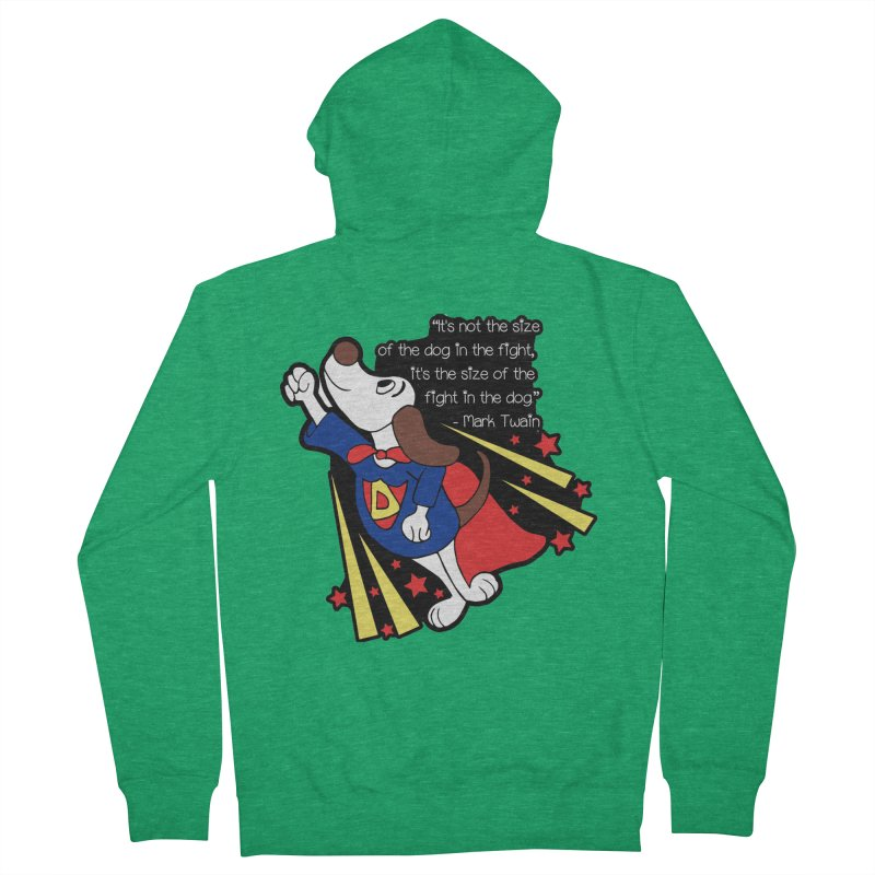 Underdog Day Men's French Terry Zip-Up Hoody by moonjoggers's Artist Shop