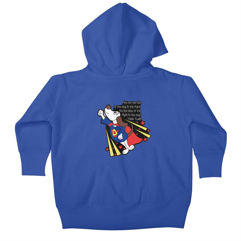 Underdog Day Kids Baby Zip-Up Hoody by Moon Joggers's Artist Shop