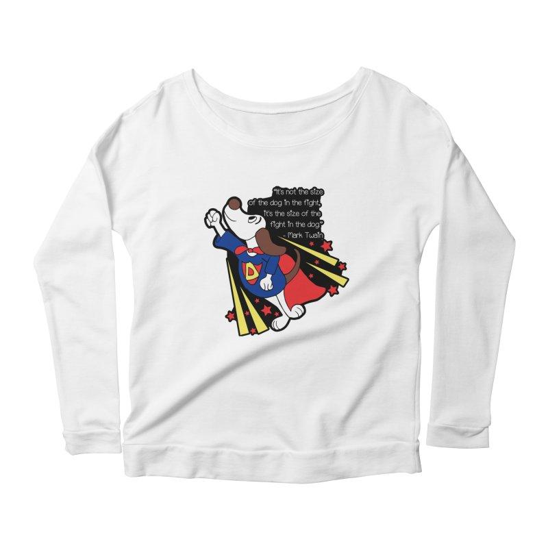 Underdog Day Women's Scoop Neck Longsleeve T-Shirt by Moon Joggers's Artist Shop