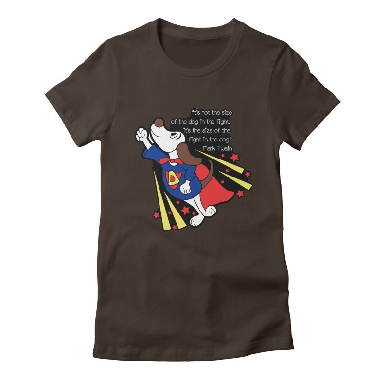 Underdog Day Women's Fitted T-Shirt by Moon Joggers's Artist Shop