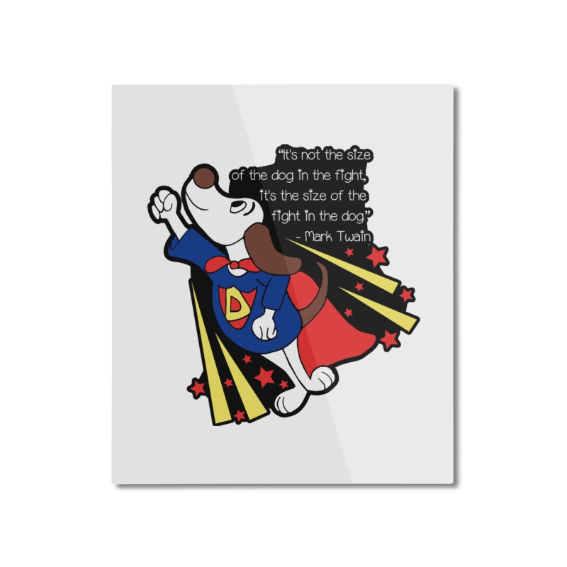 Underdog Day Home Mounted Aluminum Print by Moon Joggers's Artist Shop