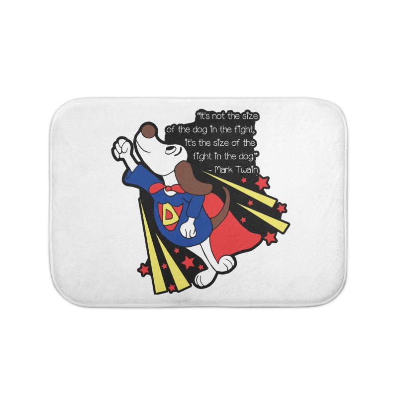 Underdog Day Home Bath Mat by Moon Joggers's Artist Shop