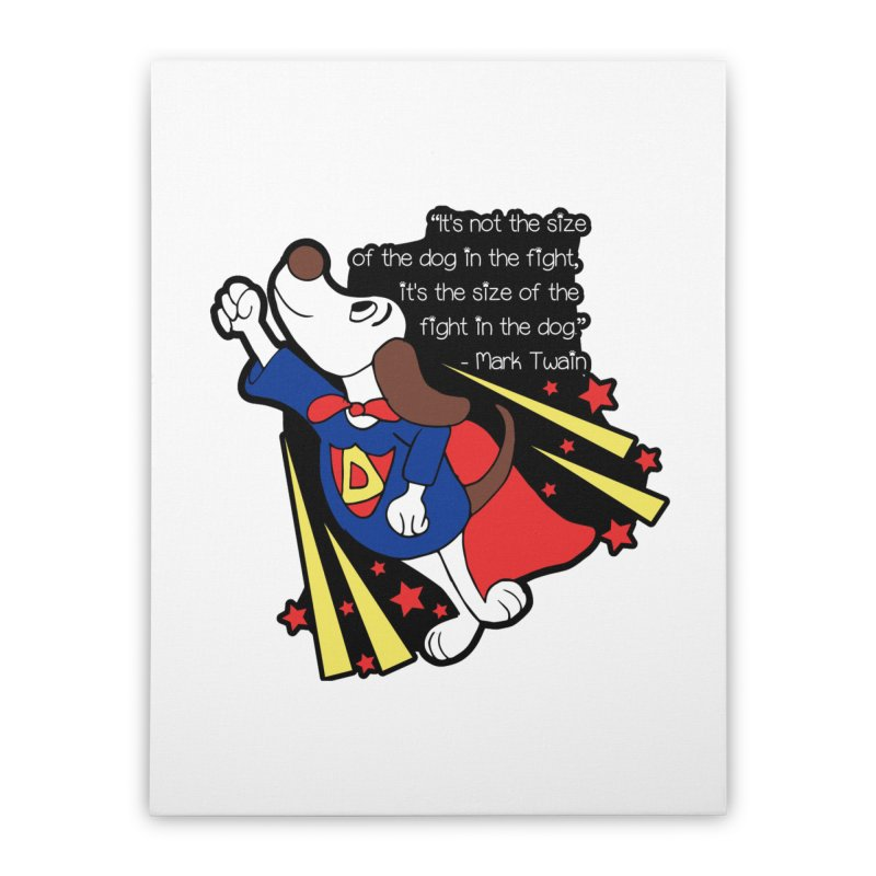 Underdog Day Home Stretched Canvas by moonjoggers's Artist Shop