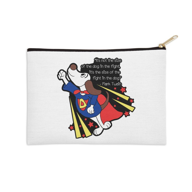 Underdog Day Accessories Zip Pouch by moonjoggers's Artist Shop