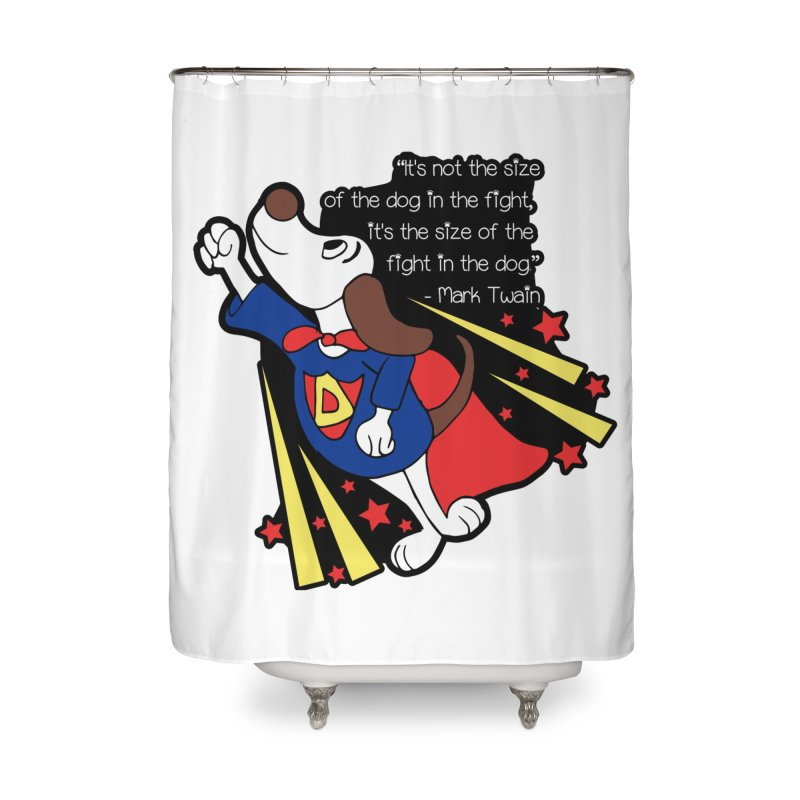 Underdog Day Home Shower Curtain by Moon Joggers's Artist Shop