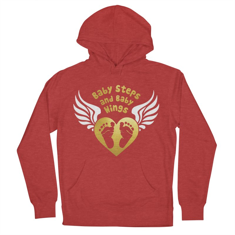 Baby Steps and Baby Wings Women's French Terry Pullover Hoody by Moon Joggers's Artist Shop