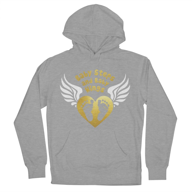 Baby Steps and Baby Wings Men's French Terry Pullover Hoody by moonjoggers's Artist Shop