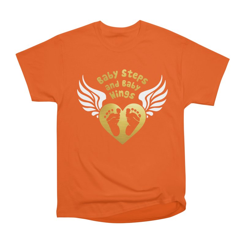 Baby Steps and Baby Wings Men's Heavyweight T-Shirt by Moon Joggers's Artist Shop