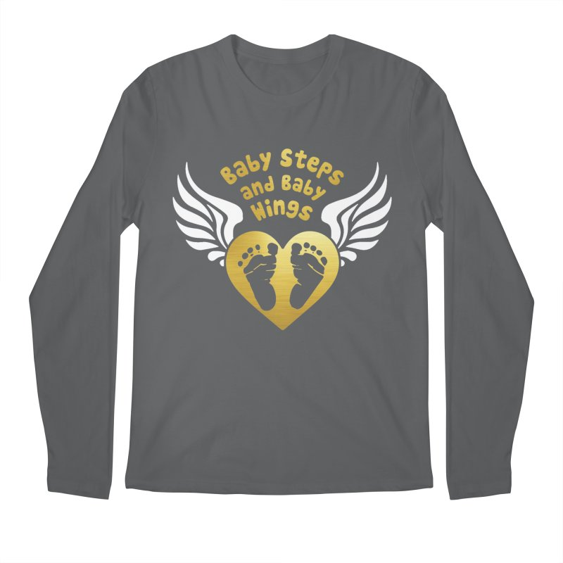 Baby Steps and Baby Wings Men's Regular Longsleeve T-Shirt by moonjoggers's Artist Shop