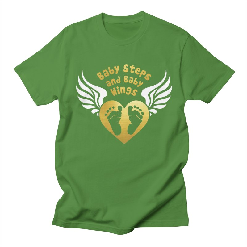 Baby Steps and Baby Wings Men's Regular T-Shirt by Moon Joggers's Artist Shop