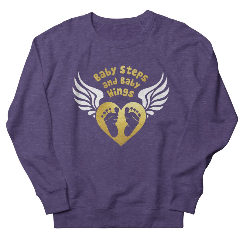 Baby Steps and Baby Wings Men's French Terry Sweatshirt by Moon Joggers's Artist Shop