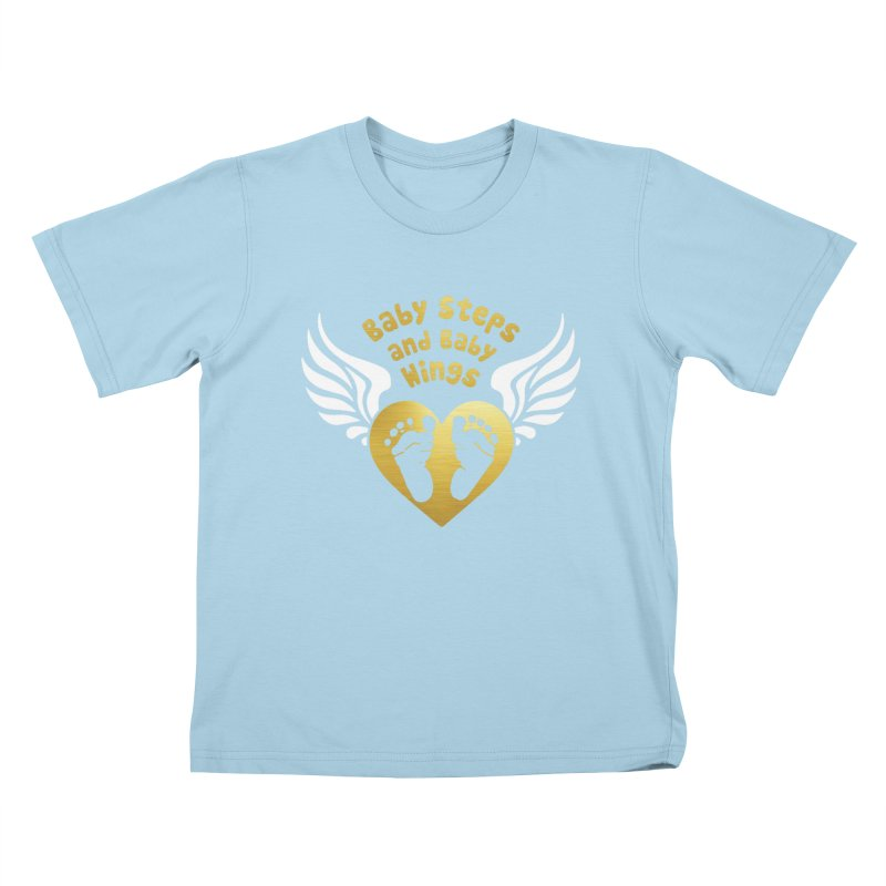 Baby Steps and Baby Wings Kids T-Shirt by Moon Joggers's Artist Shop