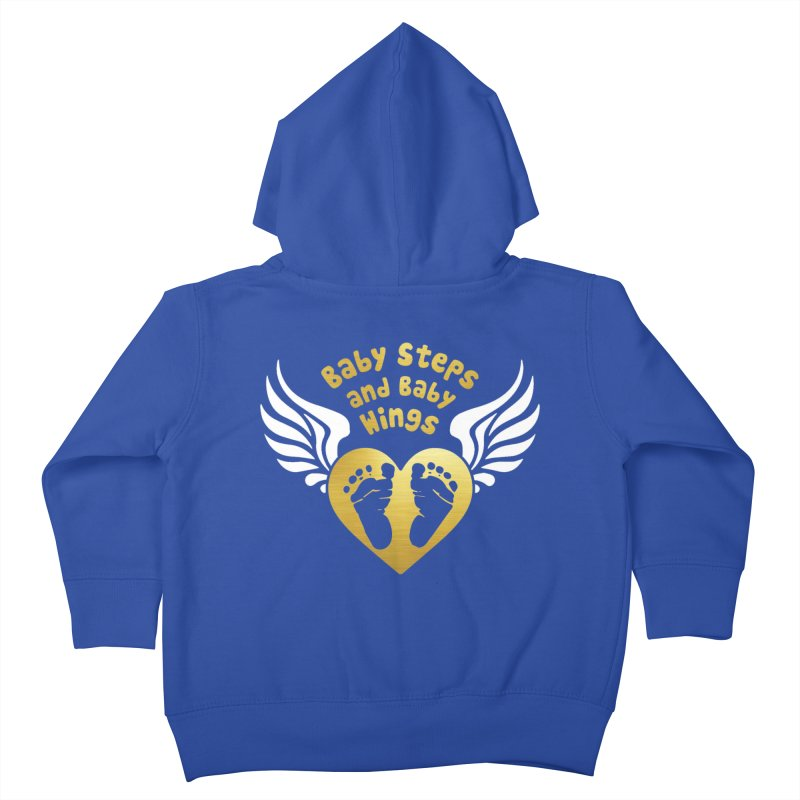 Baby Steps and Baby Wings Kids Toddler Zip-Up Hoody by moonjoggers's Artist Shop