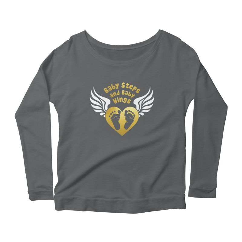 Baby Steps and Baby Wings Women's Scoop Neck Longsleeve T-Shirt by moonjoggers's Artist Shop