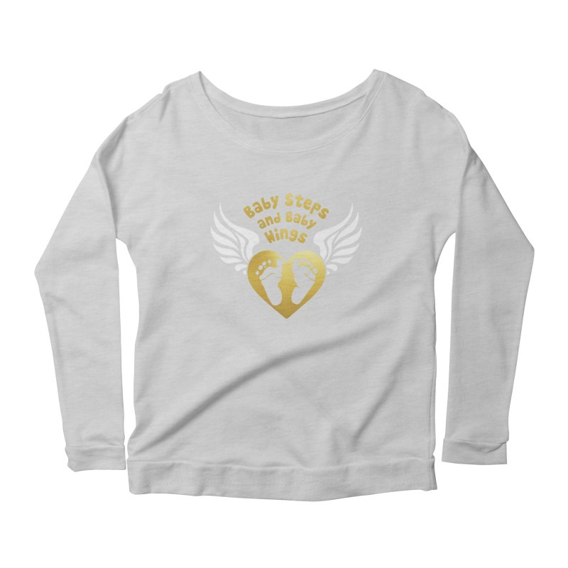 Baby Steps and Baby Wings Women's Scoop Neck Longsleeve T-Shirt by Moon Joggers's Artist Shop