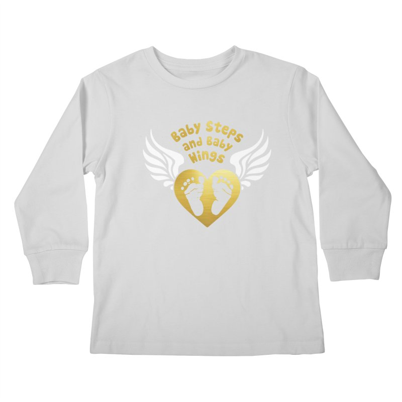 Baby Steps and Baby Wings Kids Longsleeve T-Shirt by Moon Joggers's Artist Shop