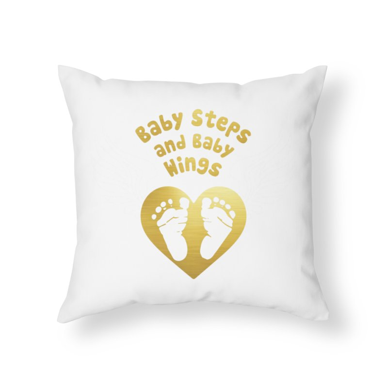 Baby Steps and Baby Wings Home Throw Pillow by moonjoggers's Artist Shop