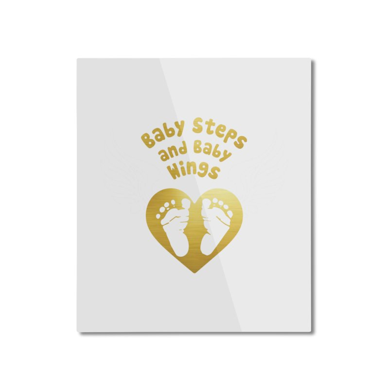 Baby Steps and Baby Wings Home Mounted Aluminum Print by moonjoggers's Artist Shop