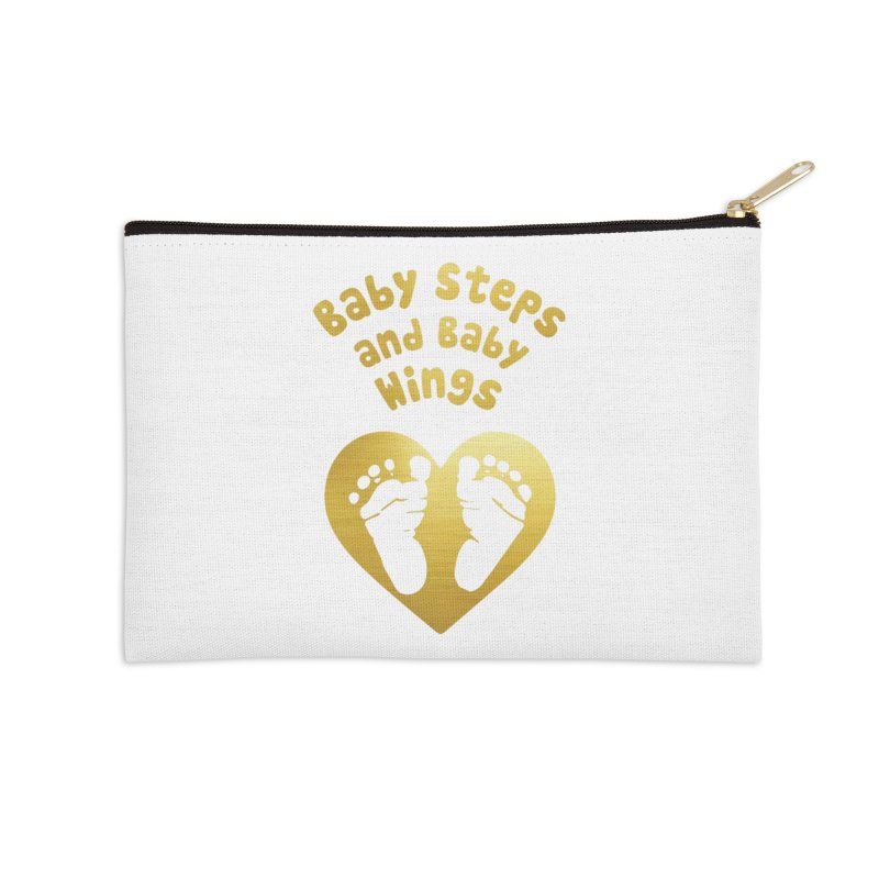 Baby Steps and Baby Wings Accessories Zip Pouch by moonjoggers's Artist Shop
