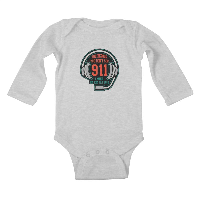 The Heroes You Don't See Kids Baby Longsleeve Bodysuit by moonjoggers's Artist Shop