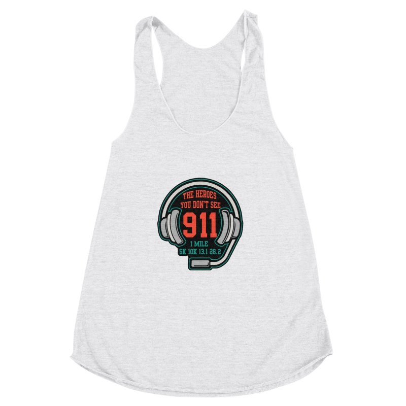 The Heroes You Don't See Women's Racerback Triblend Tank by Moon Joggers's Artist Shop