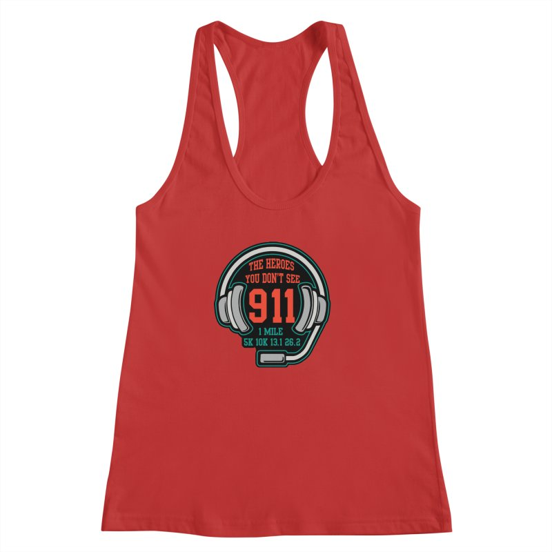 The Heroes You Don't See Women's Racerback Tank by Moon Joggers's Artist Shop