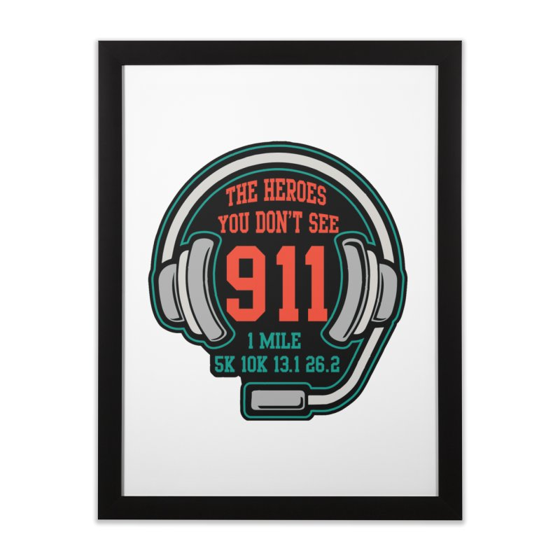 The Heroes You Don't See Home Framed Fine Art Print by moonjoggers's Artist Shop