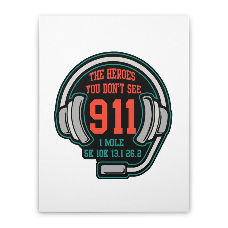 The Heroes You Don't See Home Stretched Canvas by moonjoggers's Artist Shop