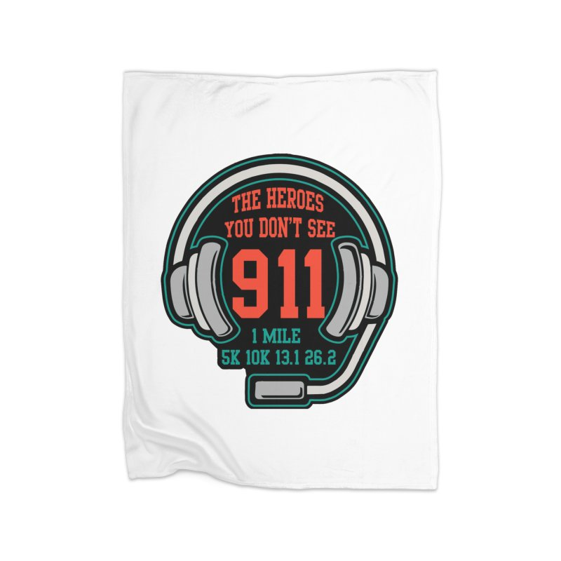 The Heroes You Don't See Home Fleece Blanket Blanket by Moon Joggers's Artist Shop