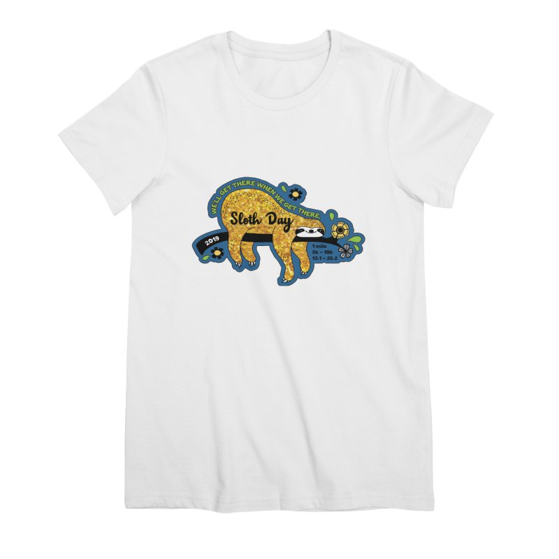 Sloth Day Women's Premium T-Shirt by Moon Joggers's Artist Shop