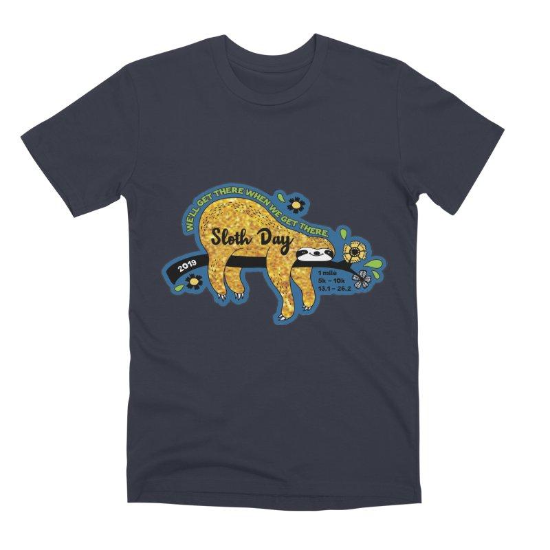 Sloth Day Men's Premium T-Shirt by Moon Joggers's Artist Shop