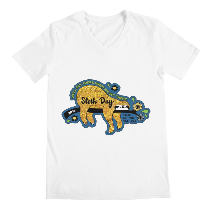 Sloth Day Men's V-Neck by Moon Joggers's Artist Shop
