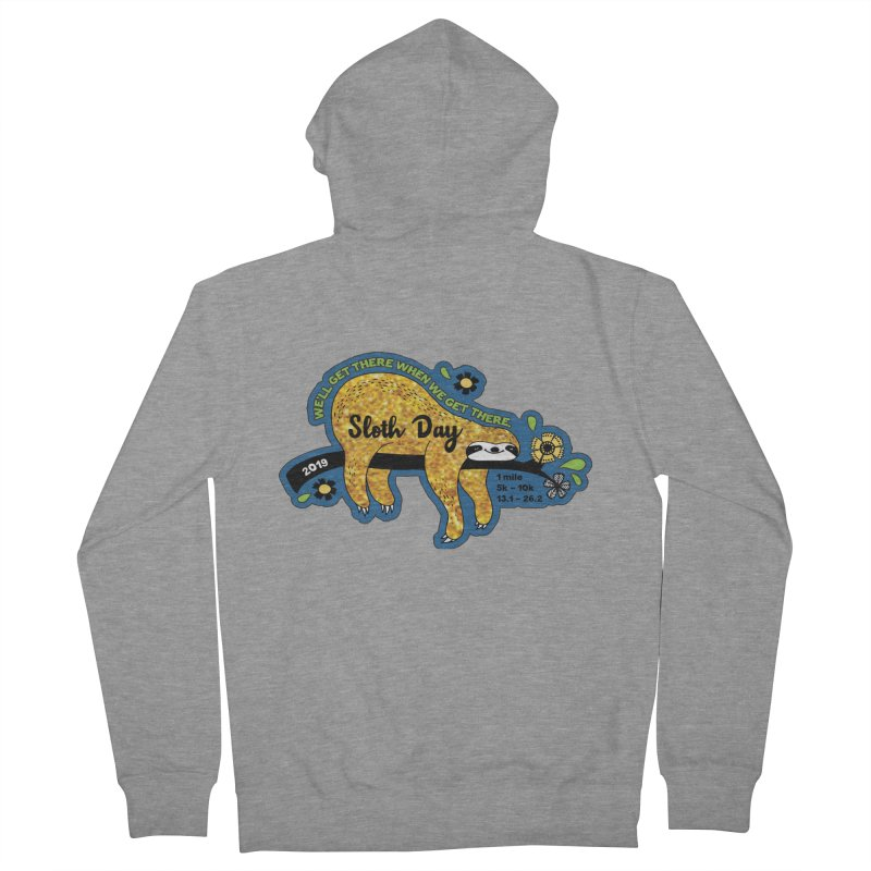 Sloth Day Women's French Terry Zip-Up Hoody by Moon Joggers's Artist Shop