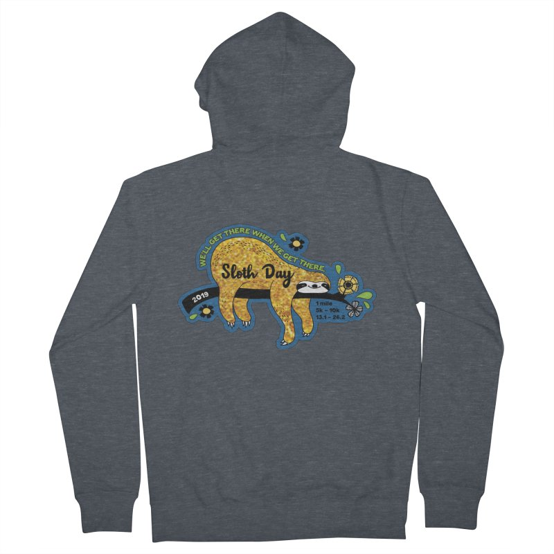 Sloth Day Men's French Terry Zip-Up Hoody by moonjoggers's Artist Shop