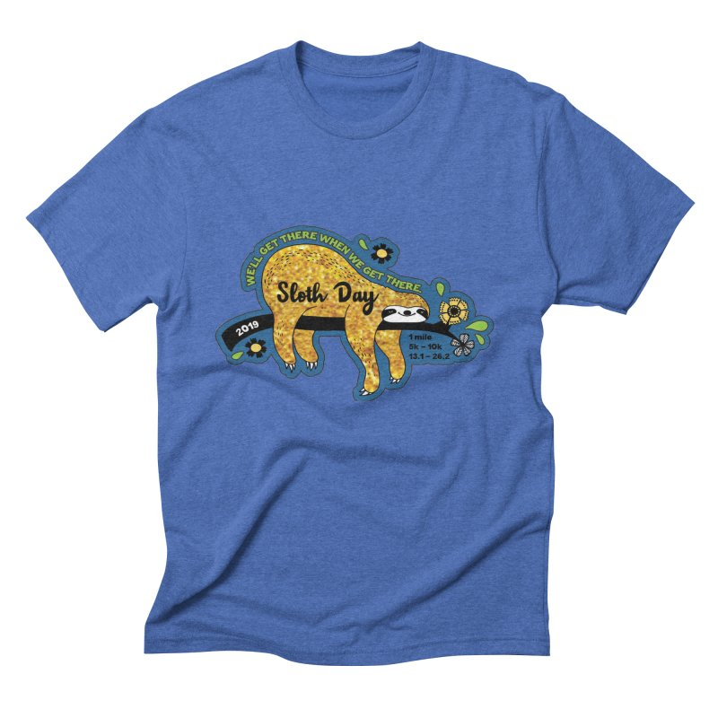 Sloth Day Men's Triblend T-Shirt by Moon Joggers's Artist Shop