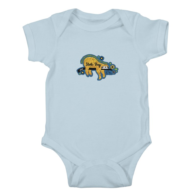 Sloth Day Kids Baby Bodysuit by Moon Joggers's Artist Shop