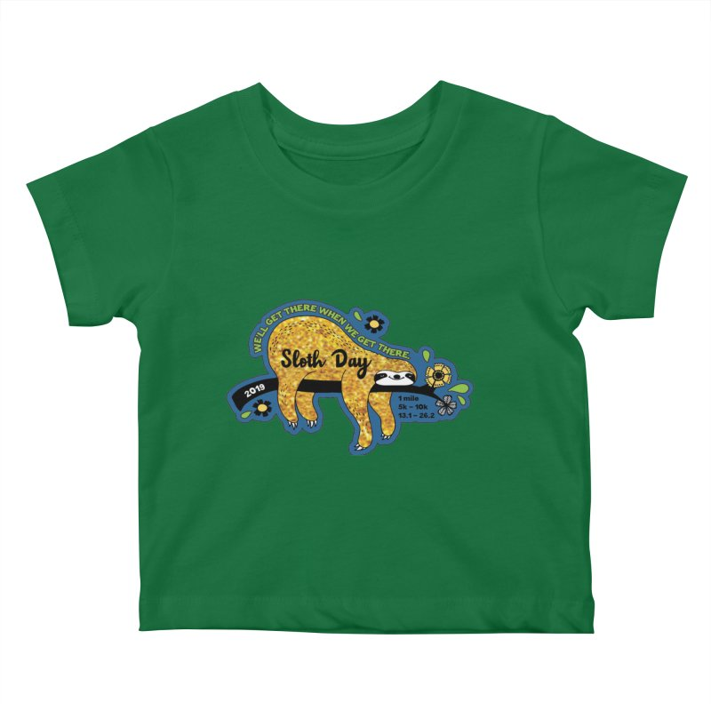 Sloth Day Kids Baby T-Shirt by Moon Joggers's Artist Shop