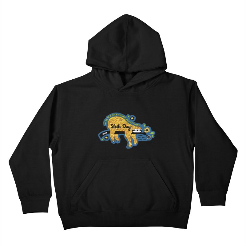 Sloth Day Kids Pullover Hoody by moonjoggers's Artist Shop