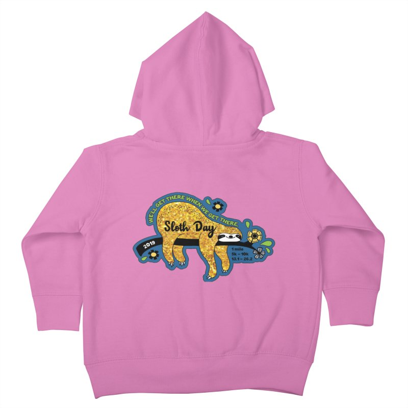 Sloth Day Kids Toddler Zip-Up Hoody by moonjoggers's Artist Shop