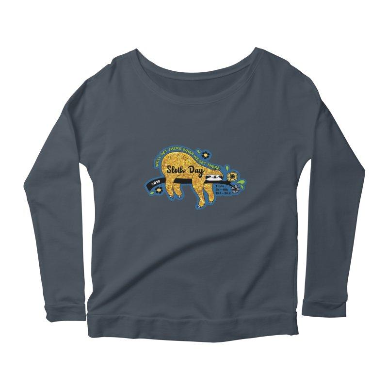 Sloth Day Women's Scoop Neck Longsleeve T-Shirt by Moon Joggers's Artist Shop