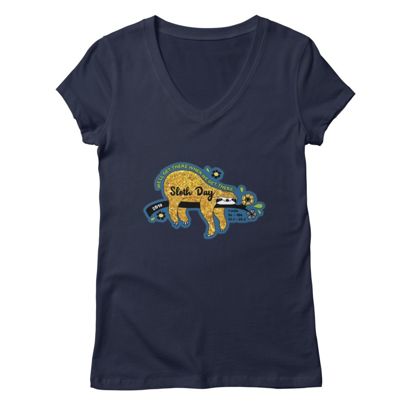 Sloth Day Women's Regular V-Neck by Moon Joggers's Artist Shop