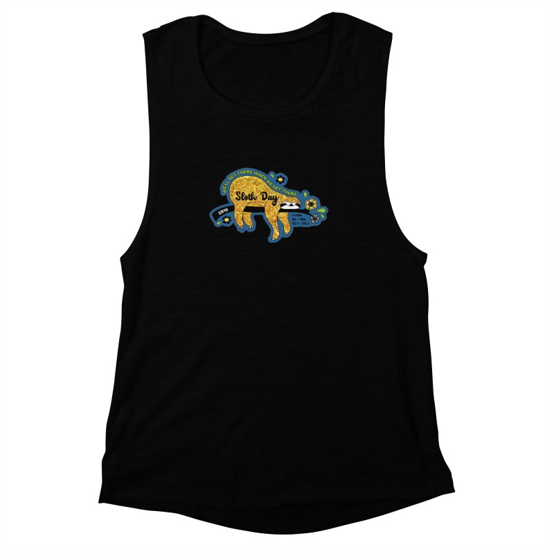 Sloth Day Women's Muscle Tank by Moon Joggers's Artist Shop
