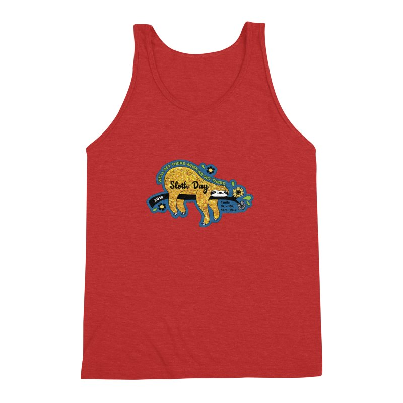 Sloth Day Men's Triblend Tank by Moon Joggers's Artist Shop