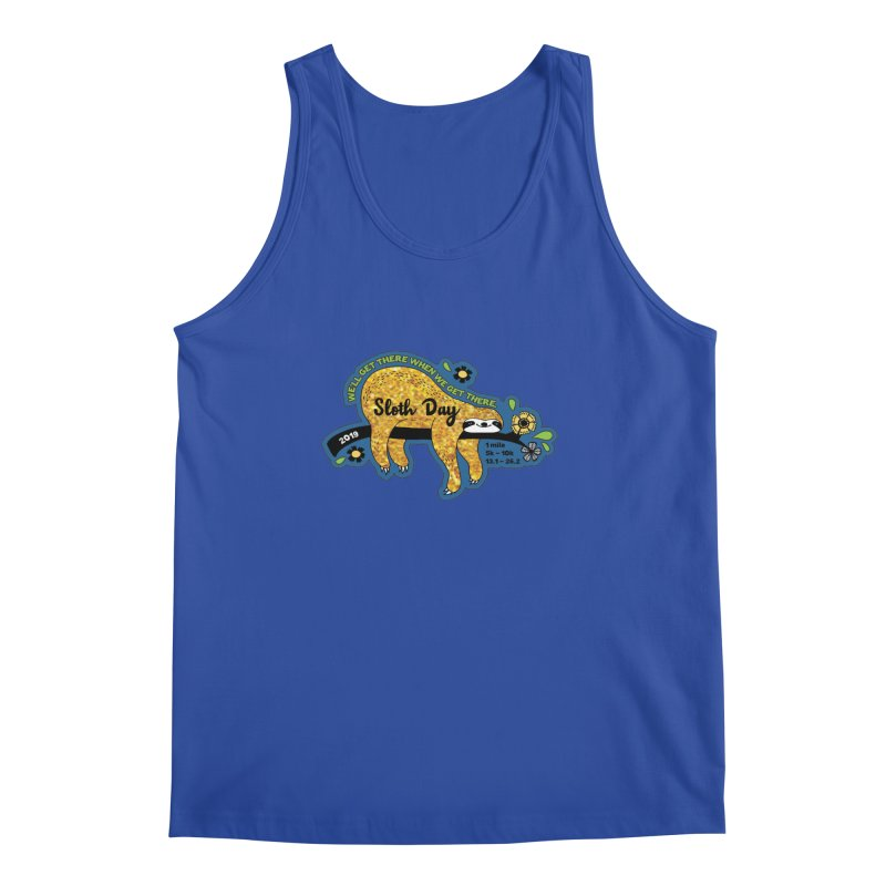 Sloth Day Men's Regular Tank by moonjoggers's Artist Shop