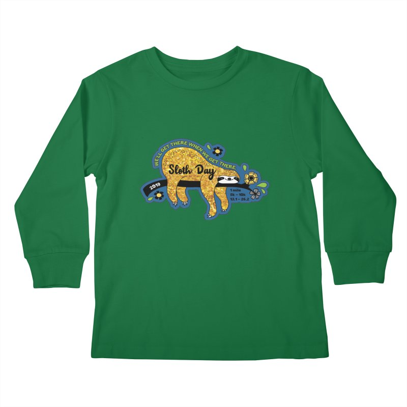 Sloth Day Kids Longsleeve T-Shirt by Moon Joggers's Artist Shop