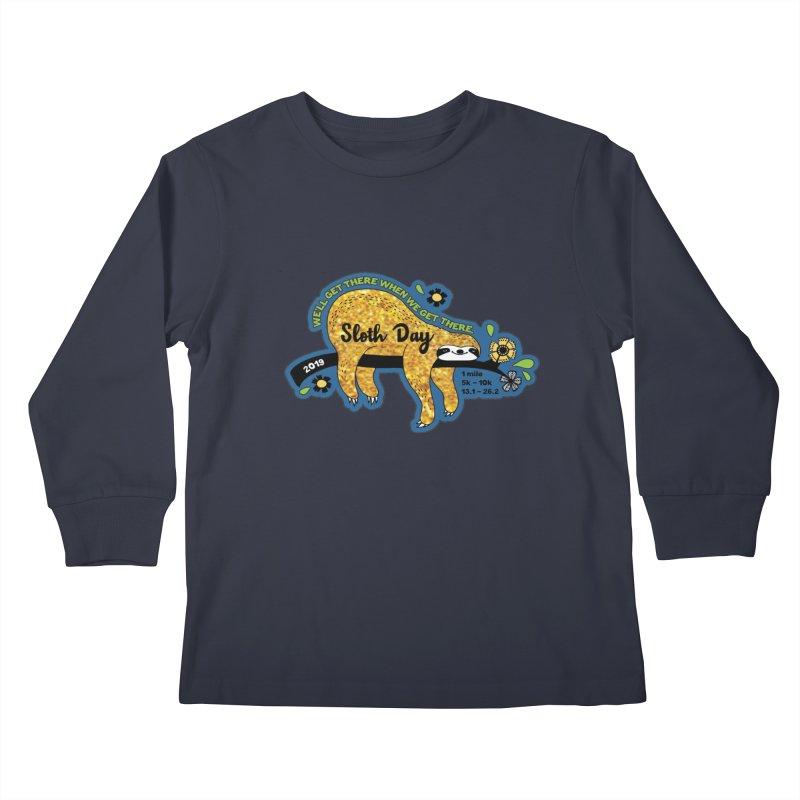 Sloth Day Kids Longsleeve T-Shirt by Moon Joggers's Artist Shop