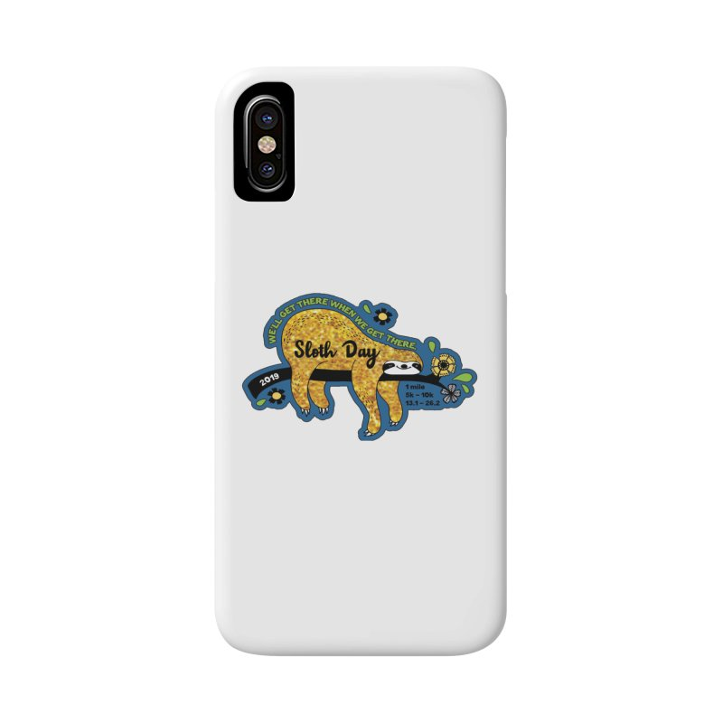 Sloth Day Accessories Phone Case by moonjoggers's Artist Shop